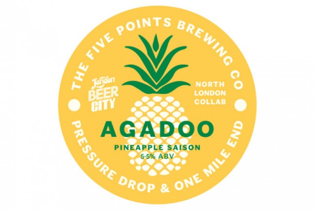 The beer tap keg clip for Five Points Agadoo Pineapple Saison