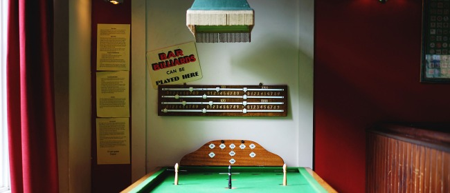 The bar billiards table at The Pembury Tavern in Hackney