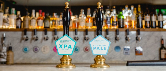 Two beer engines serving Five Points Pale and XPA at the Turk's Head in Leeds