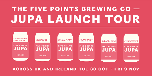 Five Points JUPA Launch Tour flyer